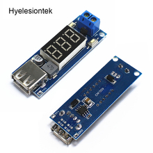 DC DC Step Down Converter LED Display Voltmeter + 5 V USB Charger Power Supply Module Board Step-down Buck Port 6.5-40V To 5V 2A