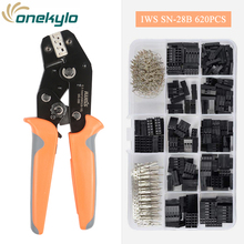 IWISS plier Terminal Crimping Tools set SN-28B Crimper 28-18AWG with 620pcs 2.54mm Male Female Pin Connector Wire Housing Kit английский язык разноуровневые задания 6 класс фгос