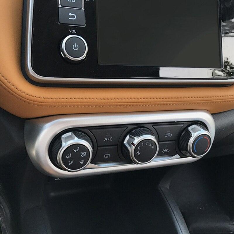 ABS Matt Car Conditioning Adjustment Cover Trim 1PCS for Nissan Kicks 2016-2019