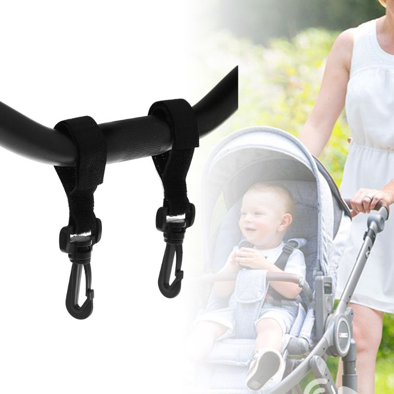 2 Pcs/Set Baby Stroller Hanger Hook Hanging Portable Outdoor Shopping Bag Storage Carriage Cart Hooks Carrier Practical Universa