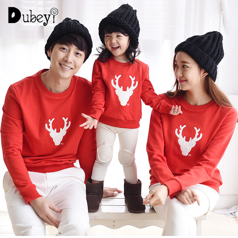 Xmas Family Matching Clothing  Christmas Pajamas Mommy and Me Look Reindeer Clothes for Baby