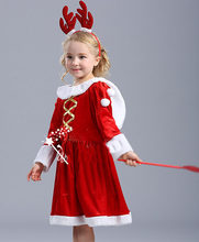 Mode Baby Meisjes Jurk Christmas Party Red Jurken Xmas Gift Lange Mouw Prinses Jurk Kleding Outfit(China)