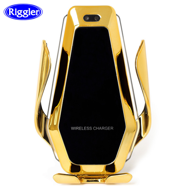 Automatic Clamp Car Wireless Charger with Flowable Light  for Huawei P30Pro Iphone11 XR XS XS MAX Qi 10W Quick Charging Holder