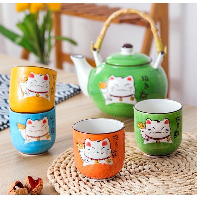Japonês criativo multicolorido dos desenhos animados gato
