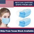Sicherheit Schutz Gesichtsmasken Non Woven Einweg Gesichtsmaske 3 Schichten Anti-Splash Arbeit Industrie Gesichtsmasken Lokalen Versand Von Texas