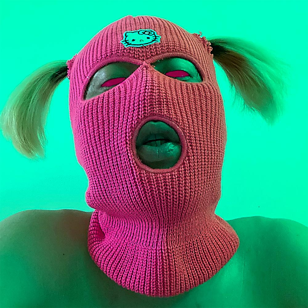 Balaclava Mask Hat Winter Cover Neon Mask Green Halloween Cap For Party Motorcycle Bicycle Ski Cycling Balaclava I CAN