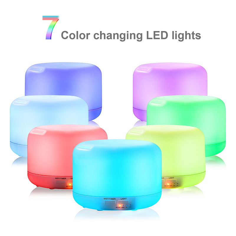 1000ML Air Aroma Diffuser Ultrasonic Humidifier Home 7 Color LED Light Electric Aromatherapy Essential Oil Aroma Diffuser