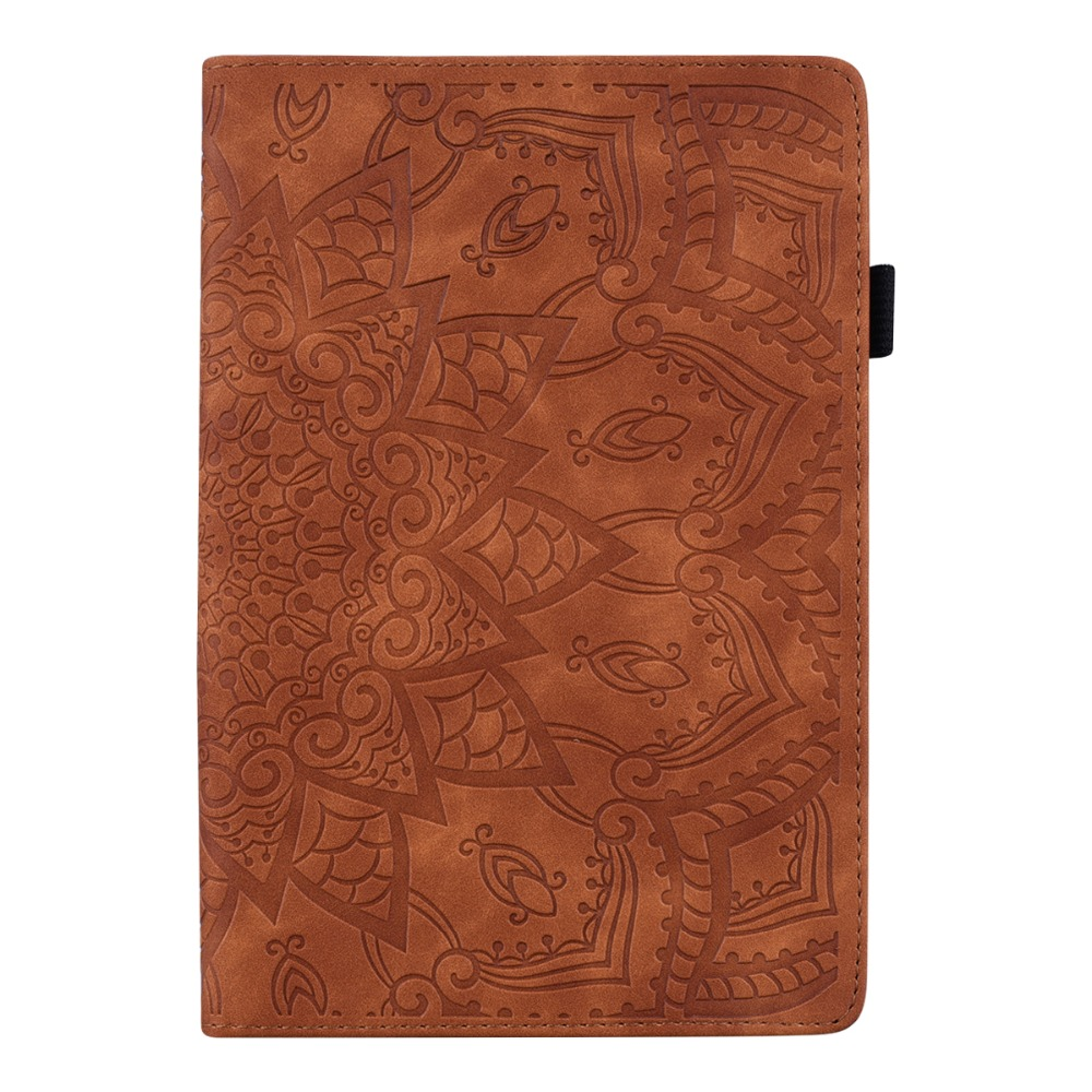 For Case Pro Folding 3D 4th Generation 12.9 Embossed Leather iPad Cover 2020 Flower