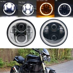 "Image 3 - 5 3/4 ""5.75 calowy motocykl Moto projektor LED pełny Halo reflektor dla 5.75 cala motocykl"