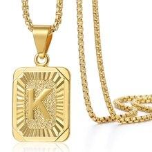Collar con colgante de iniciales A-Z 26 para mujeres y hombres, collar con letra de color oro rosa, joyería al por mayor Regalo novedoso para amigos amorosos GPM05