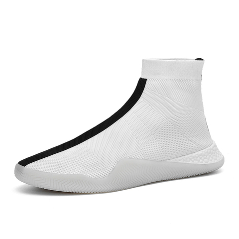 Socks shoes high waist couple high-top shoes white breathable men and women sports shoes tide shoes  casual shoes Multan