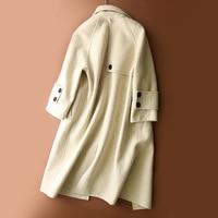 Casaco Feminino Women Autumn Winter Double Side Wool Maxi Long Coat Female Trench Warm Coats Manteau Femme LX1860