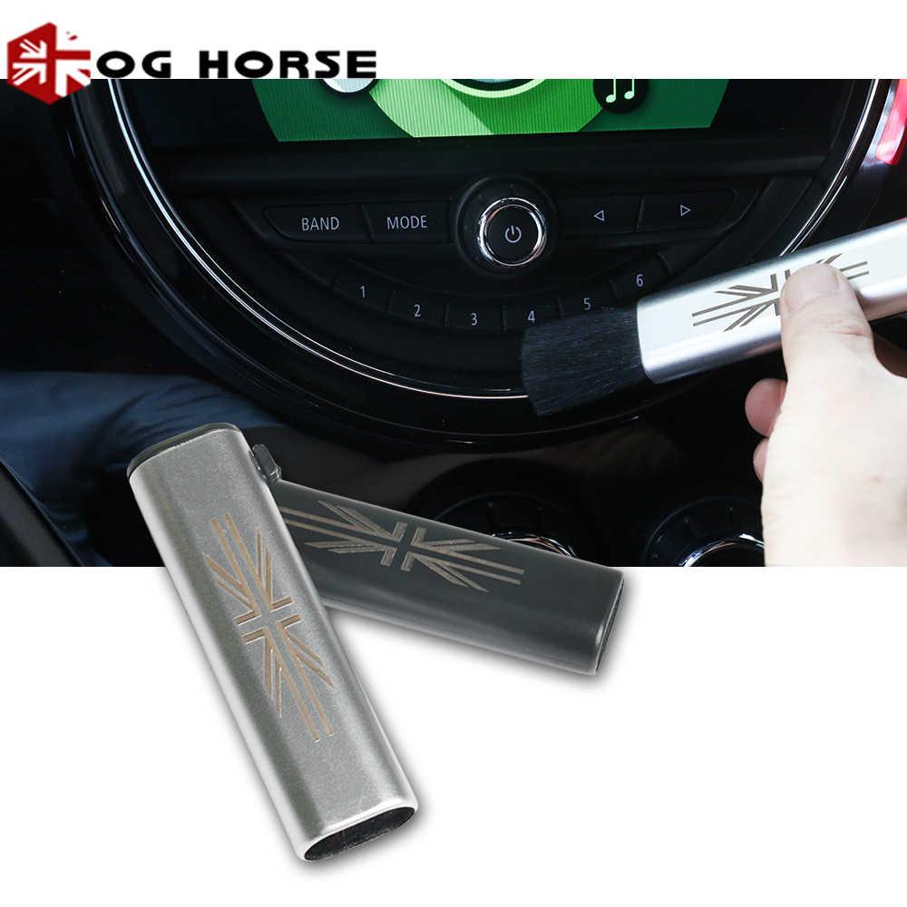 איחוד שקע מכונית לשקע מזגן גמיש לאבק פער ניקוי רך מברשת כלי אוויר Vent עבור כל מיני קופר אבזרים