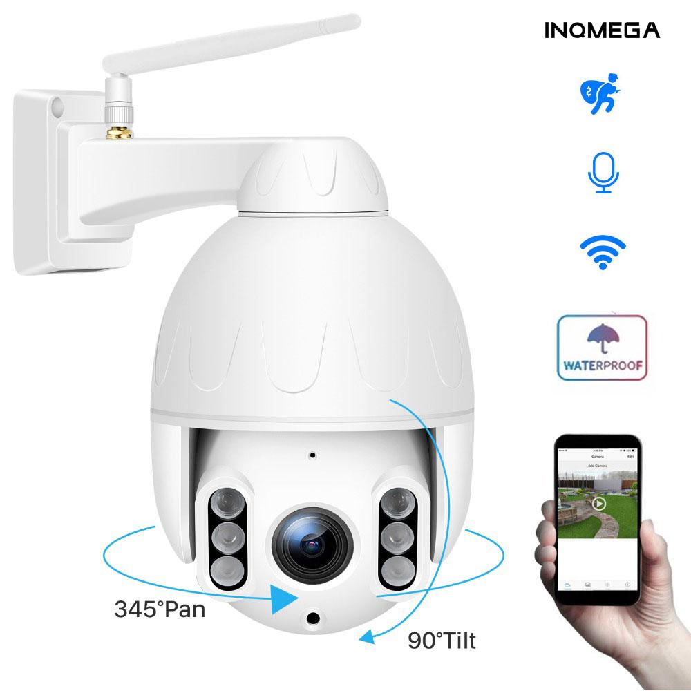 INQMEGA 1080P PTZ Dome Camera Human Tracking Wireless Outdoor Wifi Camera IP66 Waterproof Two way Audio 50M Night Vision