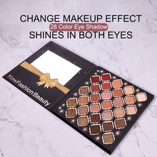 28 Colors Full Professional Makeup Eyeshadow Palette Of Shadows Waterproof Cosmetics Palete With Glitter/Matte The Shadows silver shadows