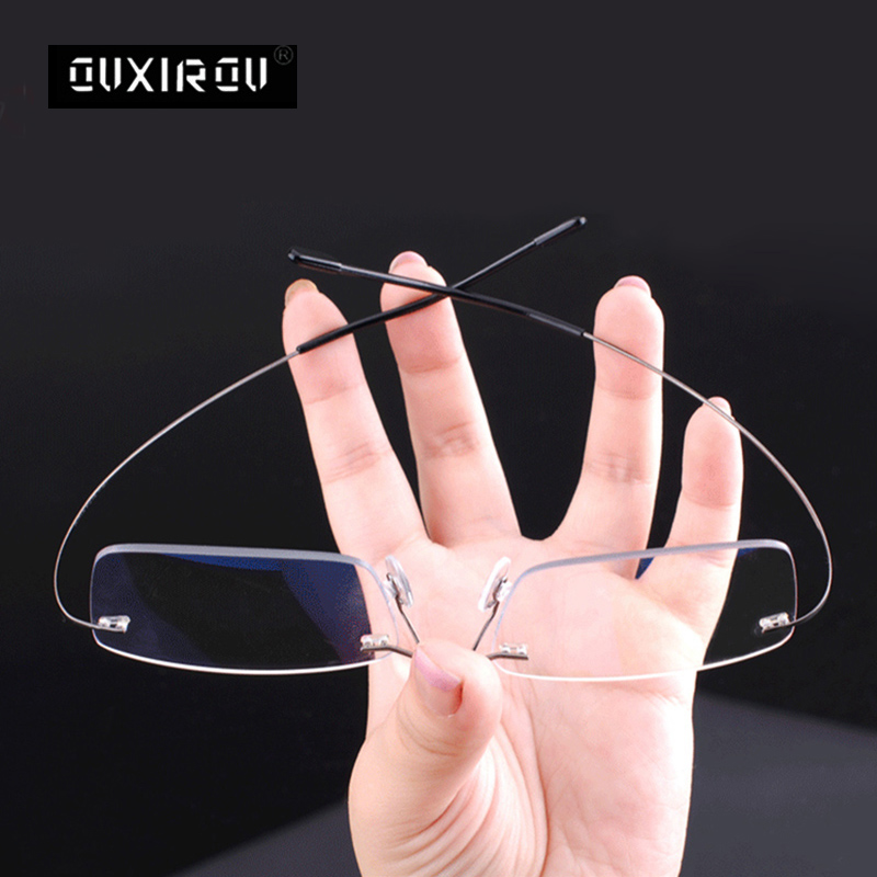 Rimless Pure Titanium Reading Glasse Men Women Anti-blue Light Ultralight Presbyopia +1.00 1.50 2.00 2.50 3.00 3.50 4.00 S630