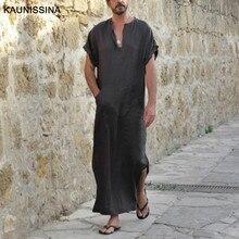 Men Nightshirt Casual Nightwear Comfortable Short Sleeve Night Shirts Plus Size