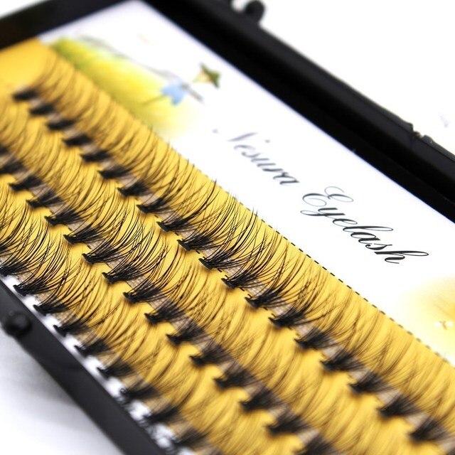 20D Grafting False Eyelashes Black Natural Long Professional Clusters Eyelash Extensions 20D Individual Volume Pro Made 2