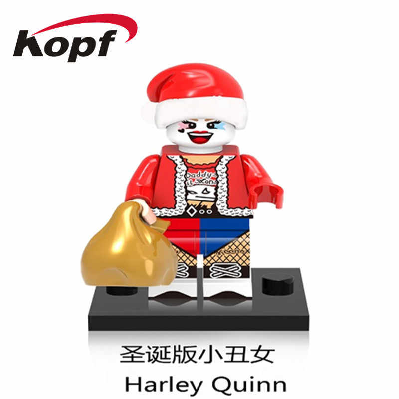Single Sale Super Heroes Building Blocks Christmas Gift Darth Vader Harley Quinn Old Gran Bricks Figures For Children Toys X0140