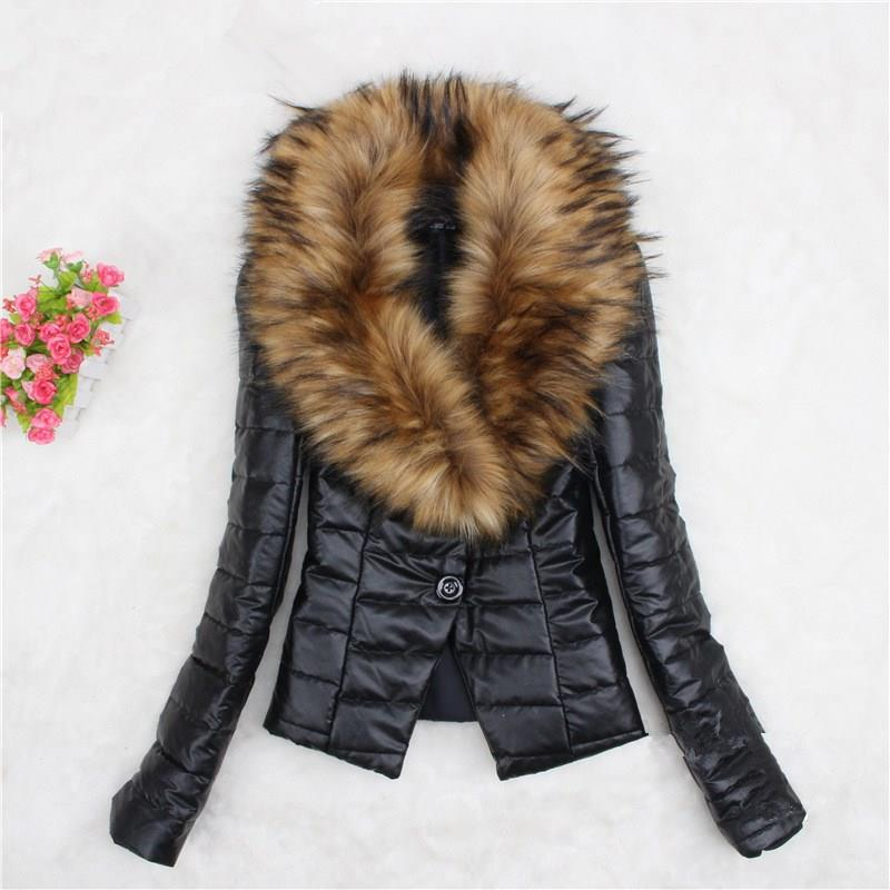 Womens Duck Down Fox Fur Coat Slim Fit Jackets Winter Thicken Warm Overcoat New