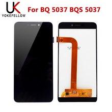จอแสดงผล LCD สำหรับ BQ 5037 BQ5037 BQ 5037 BQS 5037 BQS 5037 Strike Power 4G หน้าจอ LCD สัมผัสหน้าจอ