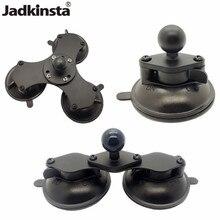 Jadkinsta Ballhead Base to Car Window Twist Lock Double Suction Cup Base Rubber Ball for Gopro Camera