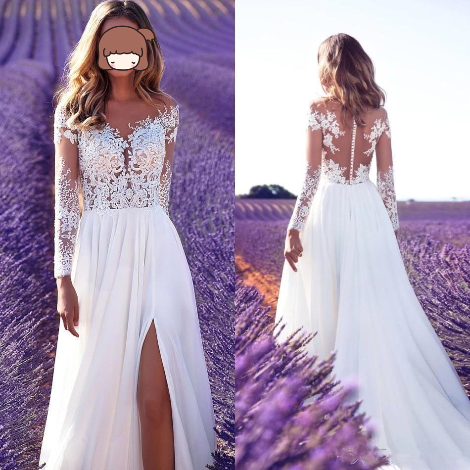 Vintage Spaghetti Lace High Low Wedding Dresses 2019 Vestido De Noiva Short Robe De Mariee Bridal Gown Custom Made Wedding Dress