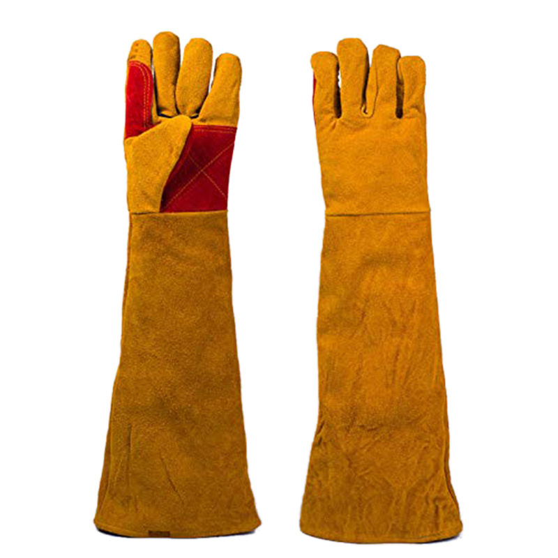 60cm Long Sleeves Welding Gloves Heat Resistant Stove Fire BBQ/Camping/Cooking Gloves Baking Grill Gloves Welder Fireplace Stove