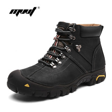 Genuine Leather Men Boots Breathable Leather Winter Shoes  Boots High Quality Outdoor Casual Men Ankle Snow Boots Dropshipping new designer waterproof men boots comfort footwear genuine leather ankle boots shoes high quality outdoor shoes men dropshipping