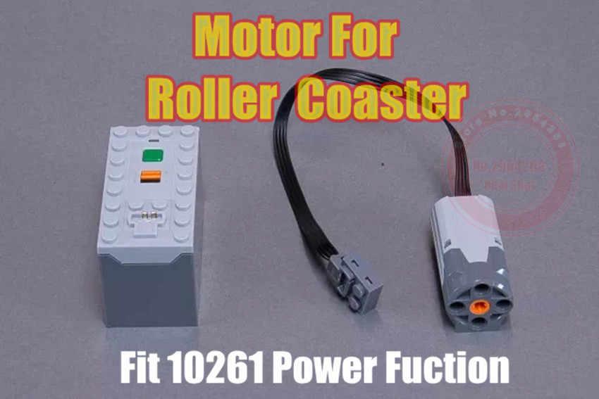 Funções de potência do motor moc 0643 + 2761 m apto legoings técnica para o parque de diversões a montanha russa 10261 15039 buidling bloco tijolo