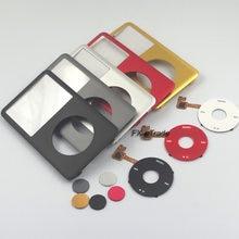 Capa e botão do centro da roda de grampo para ipod 6th 7a clássica 80gb 120, combinação de placa frontal gb 160gb