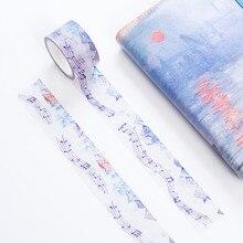 Музыкальные ноты каваи Васи Лента Скрапбукинг маскирующая Лента наклейки Скрапбукинг стиральная лента сумикко гураши Васи 02498
