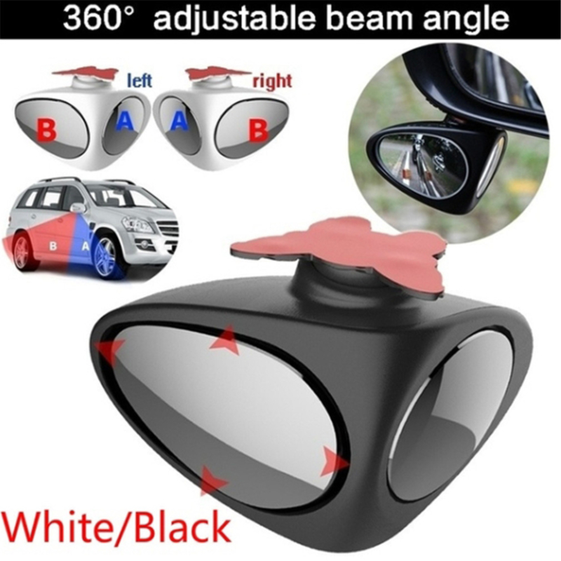 1 Piece 360 Degree Rotatable 2 Side Car Blind Spot Convex Mirror Automobile Exterior Rear View Parking Mirror Safety Accessories