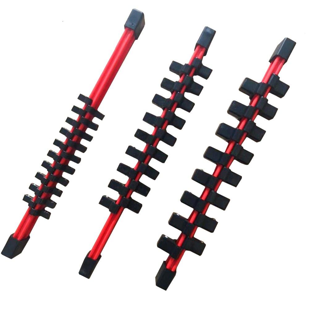 3 stücke 1/4 3/8 1/2 Kunststoff Buchse Lagerung Guide Set Rack Teiler Schiene Tray Halter Klammern Regal Ständer Werkzeug Veranstalter doppel Seite