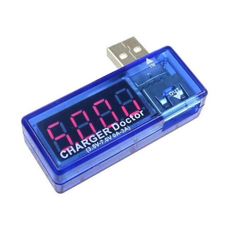 LCD MINI เครื่องทดสอบ USB เครื่องทดสอบแรงดันไฟฟ้าแบบพกพา Doctor Mobile Power Charger ความจุเครื่องตรวจจับโวลต์มิเตอร์แอมป์มิเตอร์