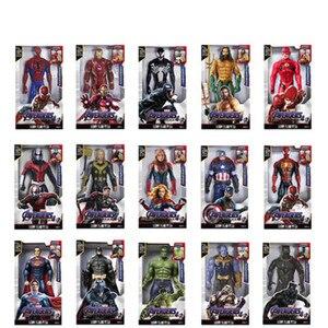 Marvel 30CM Sound and Light Action Figure Gift Avengers Iron Man Hulk Captain America Thor Thanos Batman Boy Gift(China)