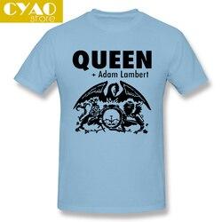 NEU New Queen +Adam Lambert Famous Musician Legend Mens White T-Shirt