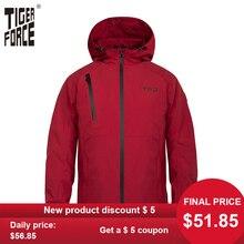 Tiger Force Waterproof Mens Jacket Male Hooded Windbreaker Casual Wind
