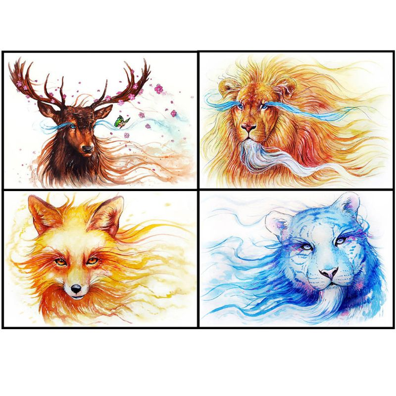 Full Drill Animals 5D DIY Diamond Painting Embroidery Cross Stitch Home Decor
