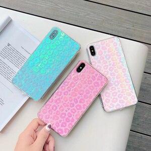 Image 2 - 60 pcs/lot Fille Paillettes Couverture Arrière Souple pour iphone XS MAX X XR 11Pro 7 8 Plus changement couleur Mignon Bling TPU, MYL PFB9