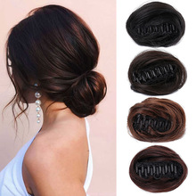 Bun Wig Hairpiece-Hair Hair-Buns Donut-Roller Claw-Clip Curly Chignon Synthetic Ring-Wrap