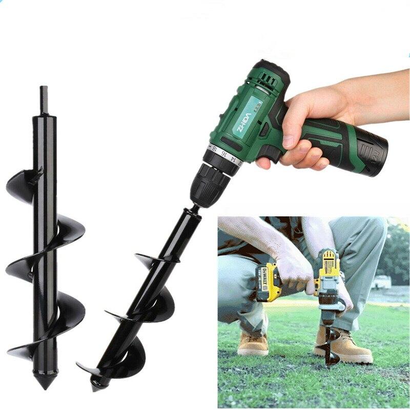 Pflanzen Auger Spiral Hole Drill Bit für Garten Yard Earth Bulb Planter Tools