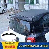 Para Merced-Benz Smart Fortwo Fourfour 453 2016 + Spoiler De Fibra De Carbono Roof Spoiler Traseiro Asa Tronco Lábio Bota tampa do Estilo Do Carro