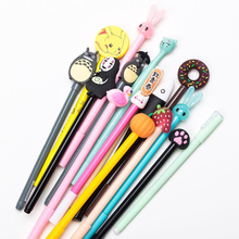 12 Pcs Mixed Styles Gel Pens Writing Pen Cartoon Cute Kawaii For School Novelty Stationery Girls Gifts