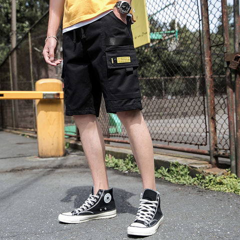 Harajuku Casual Mens Shorts Summer 2019 Fasion Cargo Mens Shorts Cotton Work Shorts Mens Sport Fitness High Quality Male Shorts Karachi