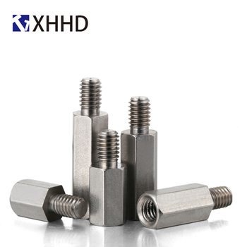 цена на M6 M8 M10 304 Stainless Steel Hex Carbon Female Standoff Pillar Stud Board Hexagon PC Computer PCB Motherboard Spacer Bolt Screw