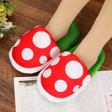 Kawaii Cotton Warm Flower Piranha Shoe Slippers Sleepwear Shoes Men Women Slip on Home Wear Slippers(China)