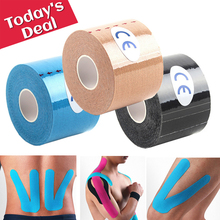 Athletic Kinesiology Tape Sport Recovery Bandage Cotton Waterproof Running Knee Fitness Tennis Football Muscle Sticker Protector 7pcs lot kinesiology tape physical therapy sports bandage recovery athletic fitness protector knee pain muscle elastic strap
