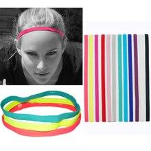 Спортивная Нескользящая тонкая эластичная повязка для волос, Женская повязка для волос для йоги, тонкий фитнес-браслет для мужчин, разноцве...