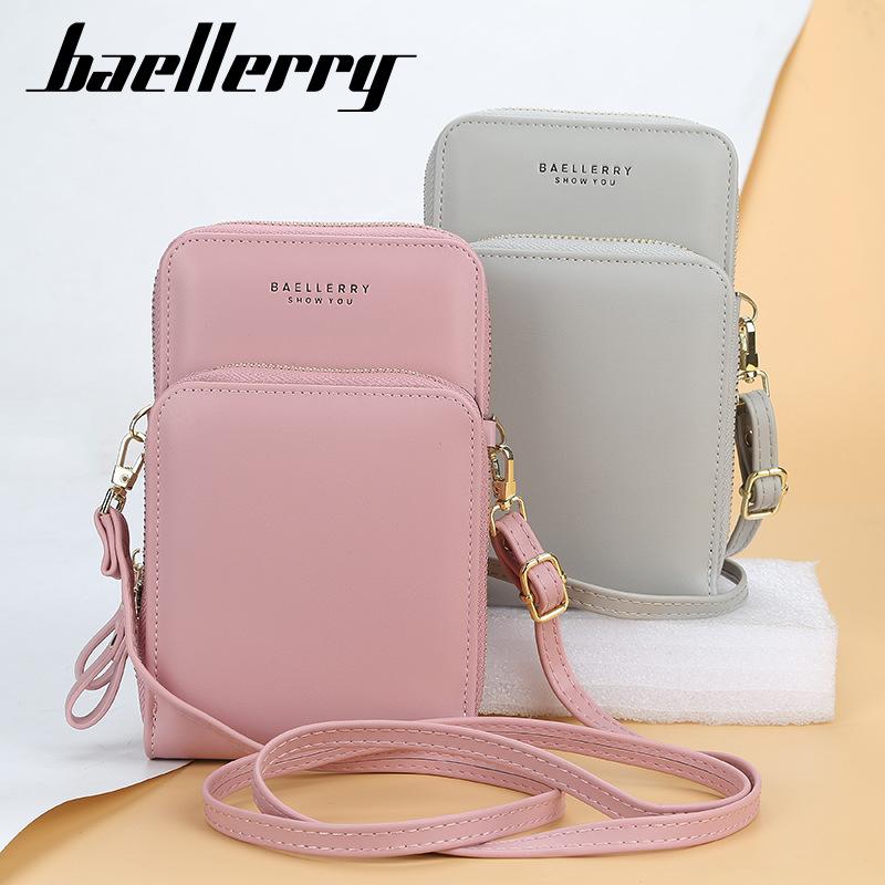 Baellerry Women Wallet 2021 Fashion Large capacity Zipper Mobile Phone Bag Female Leather Purses Card Holder Carteira Feminina